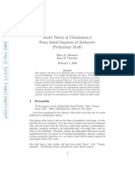 Mirco A. Mannucci and Rose M. Cherubin- Model Theory of Ultrafinitism I