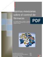 Normas Mexicanas Sobre El Control de Farmacos