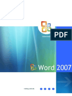 Training Manual Word 2007