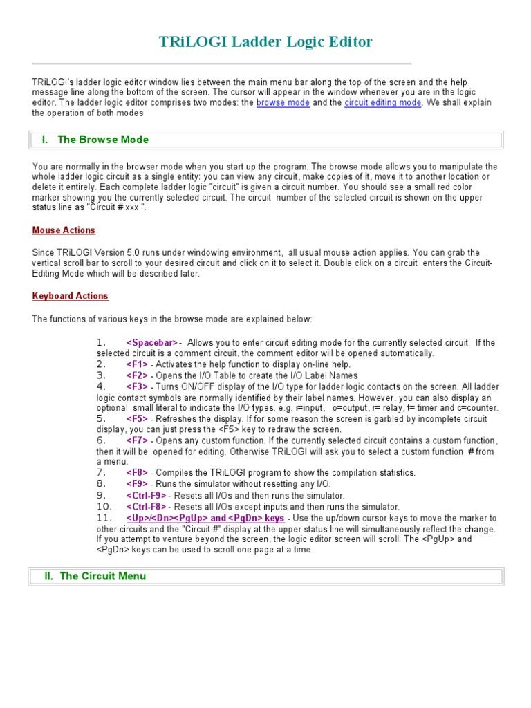 TRiLOGI Ladder Logic Editor(1) | Computer Keyboard | Icon