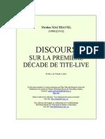 Nicolas Machiavel - Discours sur la première décade de Tite-Live -