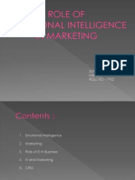 Role of Ei in Marketing