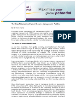 The Role of International Human Resource Management