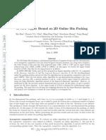 Xin Han et al- A New Upper Bound on 2D Online Bin Packing
