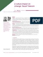 Organizational Culture - Impact on Knowledge Exchange Saudi Telecom Context