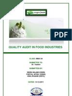 qualty audit in engro foods