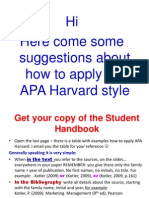 APA Harvard Some Hints VB