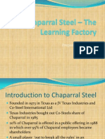 Chaparral Steel – The Learning Factory
