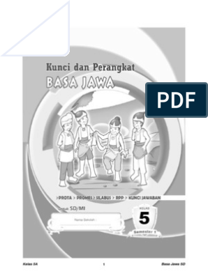 Kunci Jawaban Buku Bahasa Jawa Kelas 5 Kurikulum 2013 Dunia Sekolah Id