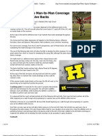 """Preview of """"Defensive-Back Drills For Man Coverage (Football) - Coach and AD"""""""