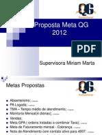 Proposta Meta QG 2012 Miriam