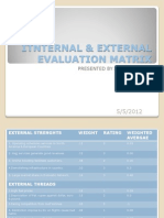 Itnternal & External Evaluation Matrix