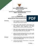 Permenpan No. Per 05 Mpan 03 2008 Standar Audit Apip