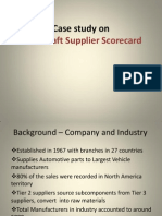 Metal Craft Supplier Scorecard