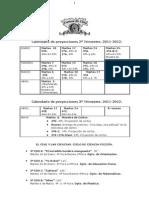 PROGRAMACIÓN- 2º TRIMESTRE. VAMOS DE CINE 2011-2012. PROFESORES.