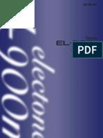 Yamaha EL-900m Manual