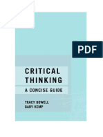 Critical Thinking - A Concise Guide