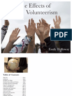 The Effects of Youth Volunteerism