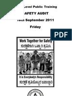 Safety Audit Pub Trg 2011