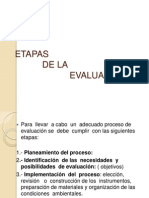 ETAPAS de La Evaluacion