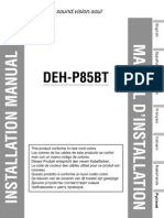 Deh-p85bt Installation Manual en Fr de Nl It Es Ru