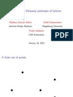Mathieu Dutour Sikiric, Achill Schuermann and Frank Vallentin- Computing Delaunay polytopes of lattices