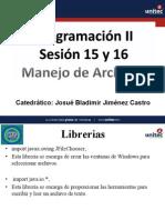 Presentacion15ProgramacionII_Manejo de Archivos