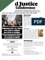 20120210 CEJ PEAC Social Justice Schools Conference