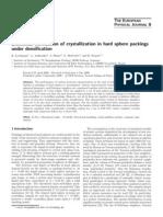 K. Lochmann et al- Statistical verification of crystallization in hard sphere packings under densification
