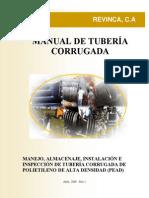REVINCA Manual de Almacenaje Instalacion e Inspeccion de Tuberia Corrugada de PEAD