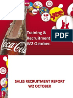 Training & Recruitment Report W2 Oct
