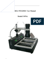 Irda-welder User Manual T-870a