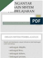 01 Pengantar Desain Pembelajaran