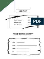 WORKSHEET Identity Trigonometric