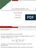 Paul E. Gunnells- Weyl group multiple Dirichlet series