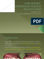 Late Expression of Class III Malocclusion