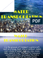 Water Transportation Power Point