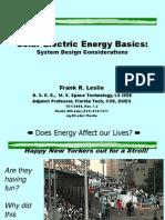Solar Electric System Design
