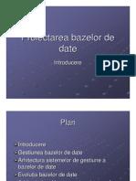 Proiectarea Bazelor de Date