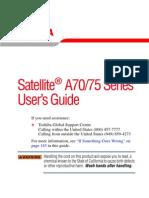 TOSHIBA Satellite A70.75 Series User's Guide