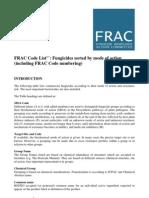 FRAC Code List 2011