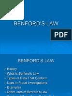 BENFORD 'S LAW