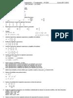 Actividades de recuperación de la 1ª evaluación 4º ESO Curso 2011-2012
