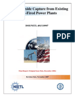 CO2 Retrofit From Existing Plants Revised November 2007