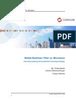 Ceragon White Paper - Mobile Backhaul; Fiber vs Microwave