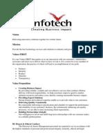 Values of Infotech Enterprises
