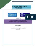 Summer Intership Project