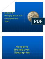 Lecture 5 - Managing Brands Over Geo and Time