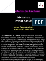 Historia e Investigación Numerofonía