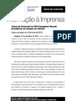 Curso de Extensão na PUC-Campinas discute jornalismo em tempos de eleição
